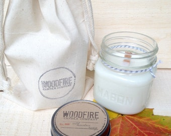 LILAC  // Wood Wick // Mason Jar // Soy Candle // 8oz // Perfect Gift