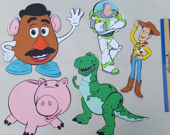 """LARGE 10"""" Toy Story party centerpiece, decoration, cardstock cuts, die cuts"""