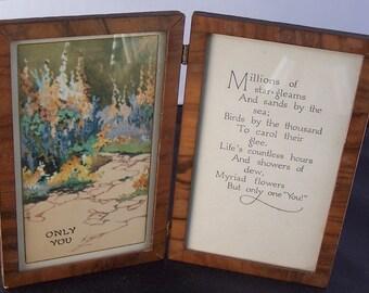 Antique Vintage  c1910 Framed Print and Poem Only You