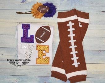 Baby Girl Football outfit, Love football, Baby football outfit, Baby girl football outfit, Football legwarmers, Football shirt,