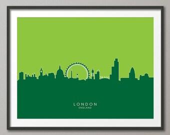 London Skyline, London Cityscape England, Art Print (617)