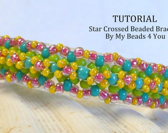 Bracelet Beading Patterns, Beading Tutorial, How to Bead Jewelry, PDF Tutorial, Instructions, Beading Instructions, Seed Bead Tutorial