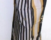 Sale mans sarong black gold stripe 10A