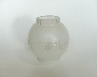 Frosted Embossed Art Deco Glass Light Lamp Shade Ceiling Globe Style, Replacement Ceiling Light Fixture