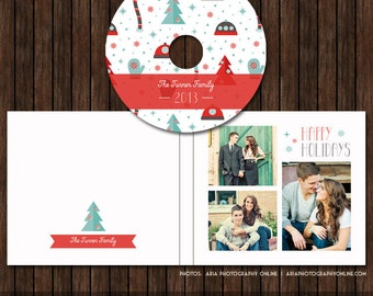Christmas / Holiday CD/DVD Label and Single Cover Templates - D23