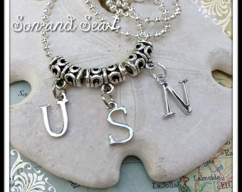Military Pride US Navy necklace by Son and Sea FREE US shipping