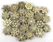 20% Off - BULK VARIETY - 250 Wooden Laser-Cut Holiday Snowflake Ornaments - 3 Inch Diameter - Sanded