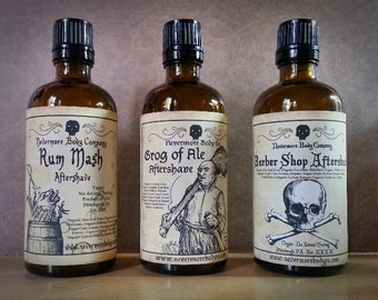 Aftershave Natural Bay Rum Ale Citrus Nevermore Body Company