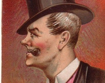 1888 Honest Long Cut Tobacco Comic Character Cards What er I givin' us?