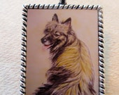 Keeshond pendant/charm - may be personalized