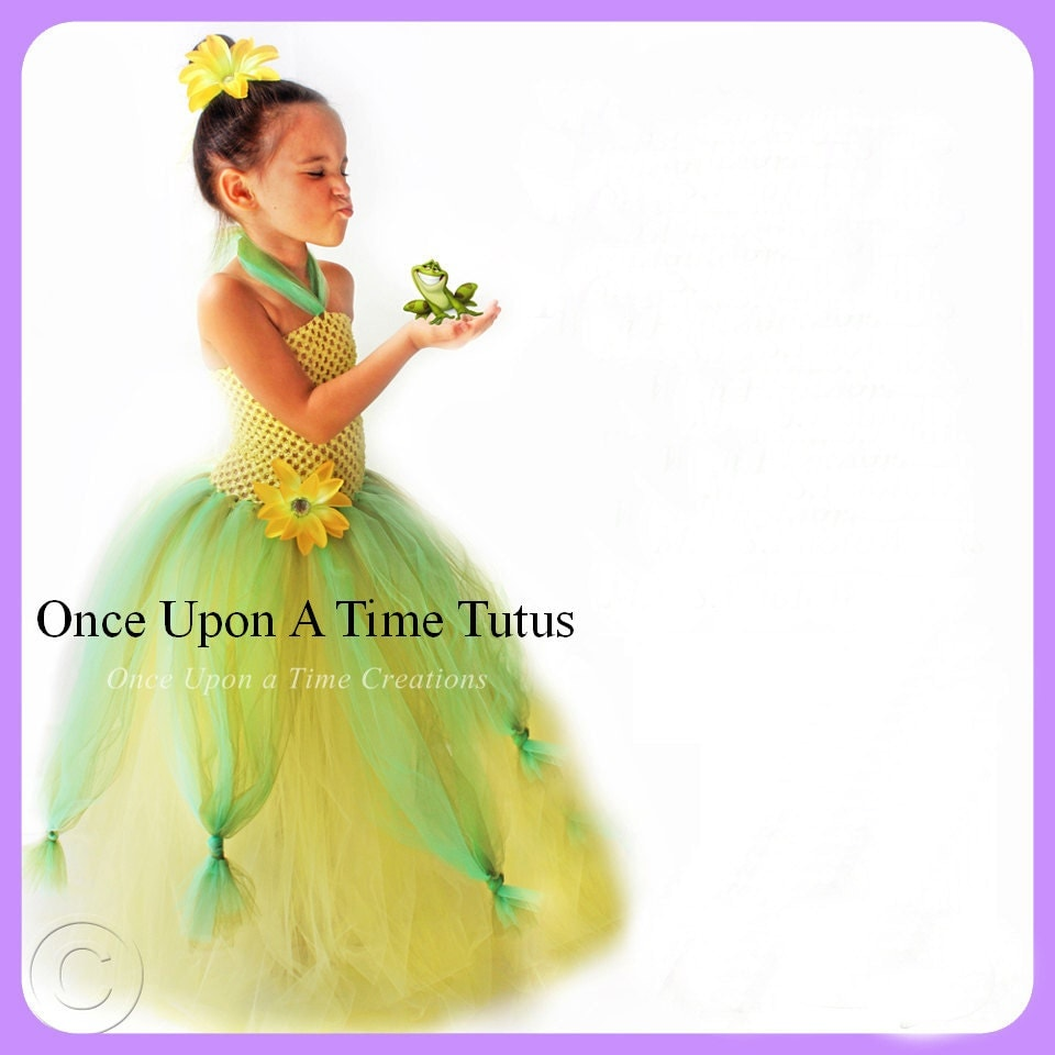 Princess Tiana Dress: Frog Princess Tutu Dress Birthday Outfit Halloween Costume