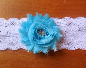 Aqua Garter/ Wedding Garter/ Garter / Aqua blue garter / Lace garter /  Blue garter /  Something Blue , Brides Garter