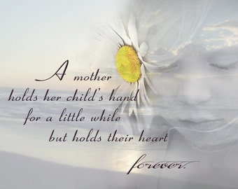 A Child's Hand - 8x10 Print - Photo Collage- Gift for Mom - Digital Collage Art - Gift Idea - Childs Room Decor - Nursery Art