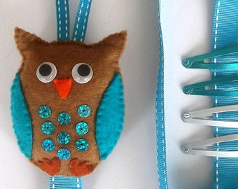 Felt Owl Hair Clip/Bow/Accessory Holder