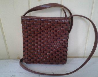 Vintage Nine West Crossbody Basketweave Purse