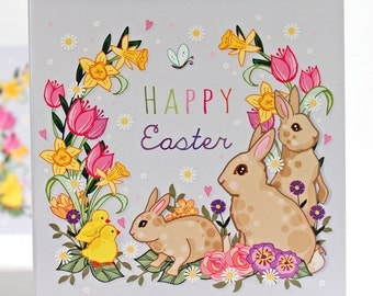 Easter Card - Easter - Happy Easter Card - Easter Bunny Card - Greeting Card - Easter Greeting - Happy Easter
