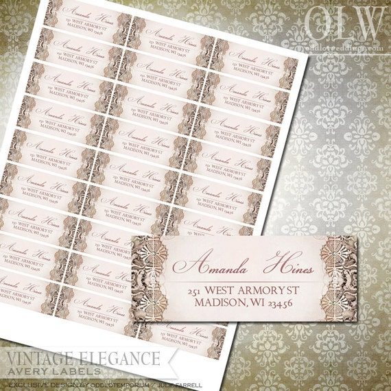Vintage Victorian Address Labels DIY Avery Labels for ...
