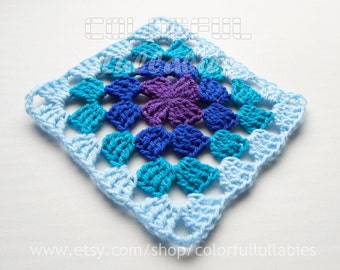 Triple Crochet Granny Square chart. Pattern No 8 of the collection of Basic Crochet Shapes, Granny Square pattern, crochet chart