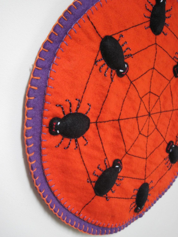 PDF PATTERN Halloween Penny Rug Wool Applique Sewing Tutorial