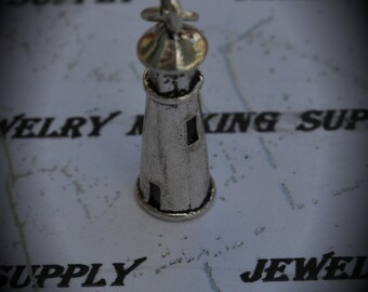 Light House Sterling Silver Plated Charm