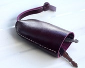 Bell keys holder/ purple geniune cow leather