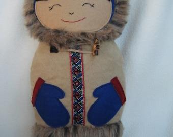 Plush Alaskan Inuit Doll - Handmade by Me