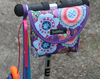 Purple Haze Print Kid's Handlebar Bag