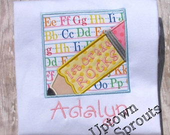 Back to school embroidered shirt