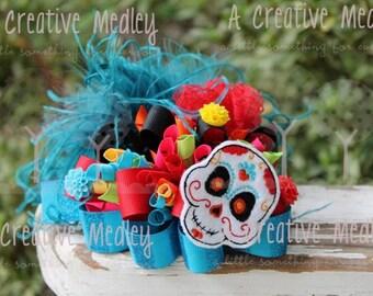 Sugar Skull felt feltie Embroidery design