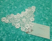 1 White Venise Lace Yokes Collar Appliques for jewelry, bridal, wedding, altered couture, necklaces, bridal by MarlenesAttic - APP109