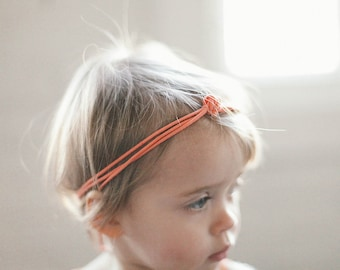 SALE Coral Elastic Knot Headband, Knot Your Average Headband