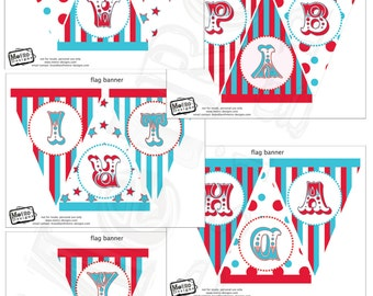 Circus Banner, Carnival Banner, Carnival Birthday, Birthday Banner, Carnival Bunting, Circus Bunting, Circus Birthday, Vintage Carnival