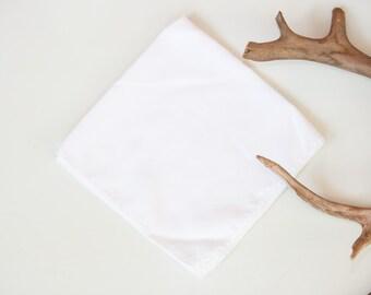 Classic White Linen Handkerchief
