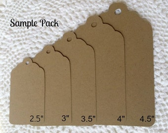 Kraft Tag Sample Pack - Size Confirmation