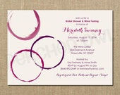 Wine Tasting Bridal Shower Invitation - Engagement Announcement - Celebration - Wedding Shower - Digital File