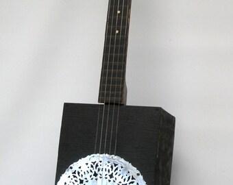Vintage Cigar Box Banjo Dobro 5-string Bluegrass Clawhammer Banjo