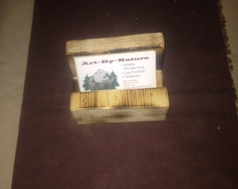Rustic card business card holder/ rustic furniture/ rustic office decor/ card holders