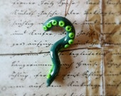 Green Tentacle Ornament - Cthulhu or Steampunk Accessory