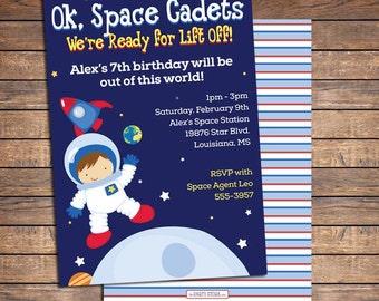 Space Birthday Invitation, Space Birthday Party, Space Birthday Party Invites, Astronaut Birthday Party Invitation - Printable DIY