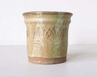 Mid Century Textural Earthenware Pottery Ceramic Small Planter