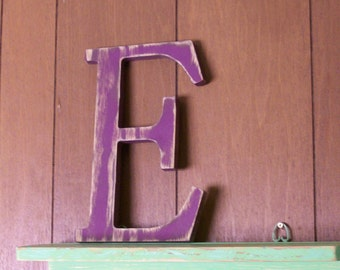 12-inch Distressed Wood Letter E Choice of Letter and Color!