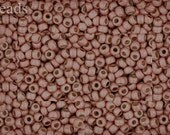 Size 11 TOHO Beads Permanent Finish - Matte Galvanized Peach Coral TR-11-PF552F 10g Frosted Opaque 11/0
