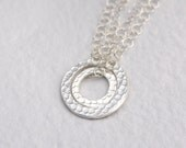 """Silver """"Circle of Love"""" Mother Daughter Necklace Set,  Mother's Day Gift Set, Eco Friendly, Handcrafted"""