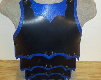 Leather Armor Ornate Gothic Chest & Back