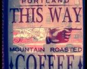 Coffee Photo Portland Oregon Window Display--Fine Art Photography 8x8