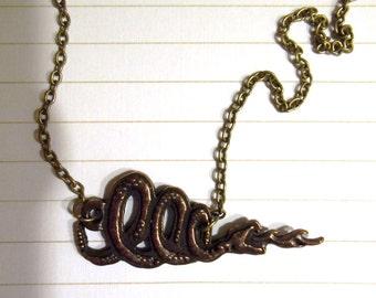 Slytherin Inspired Necklace--SALE