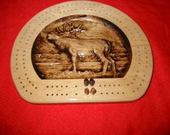 Elk Flat Bottom Cribbage Board