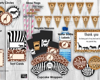 SAFARI Party Printables