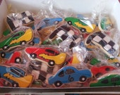 1 dozen race car cookies
