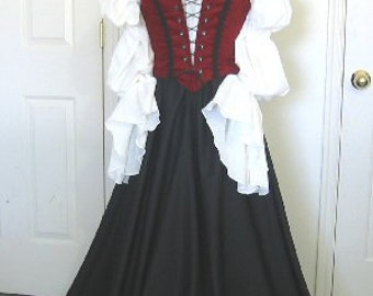 Lady Pirate Renaissance  Costume 3-Piece set made to fit YOU